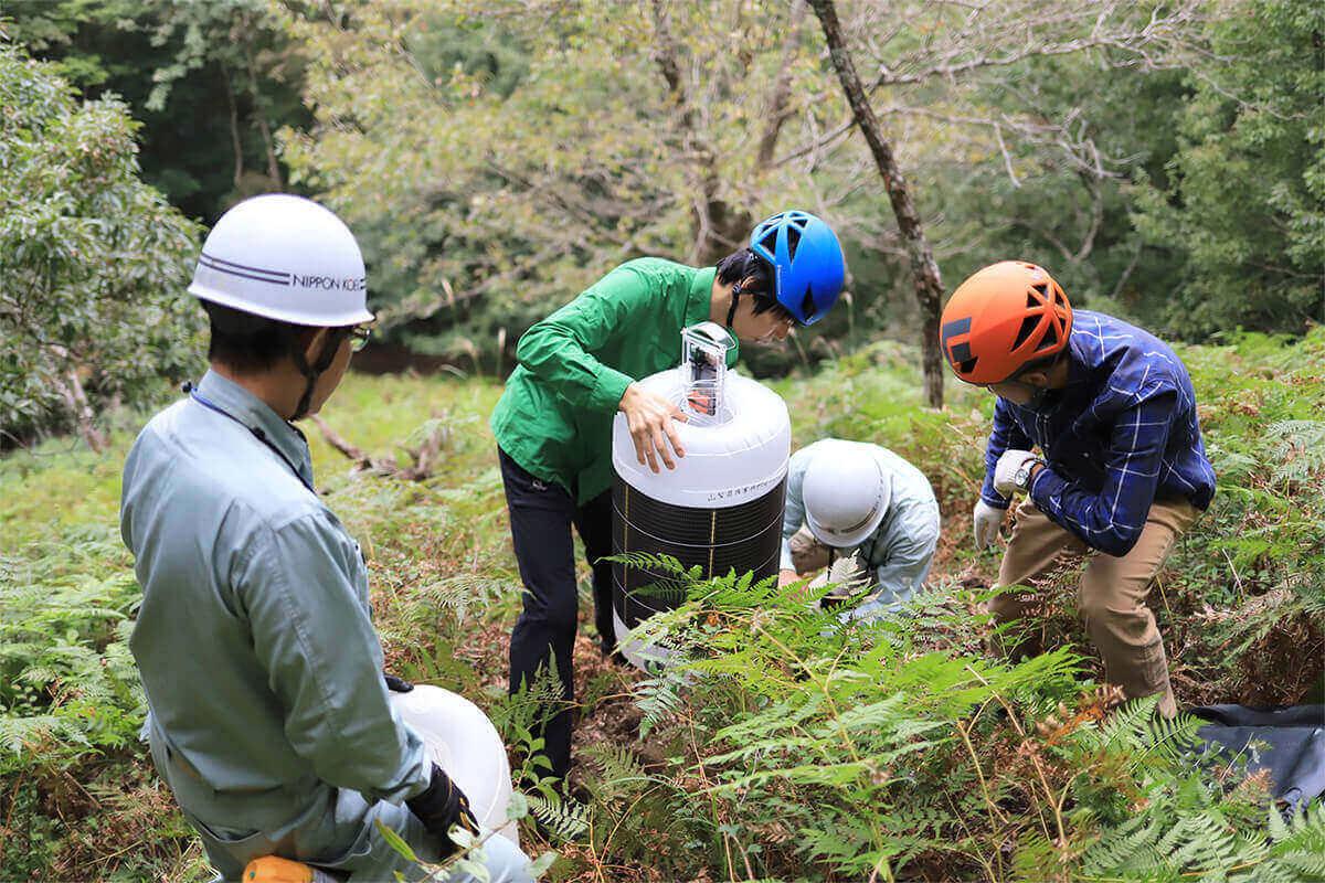 山梨県産業技術センターさまと共同研究中のIoT自然災害観測装置の実地検証に同行しました