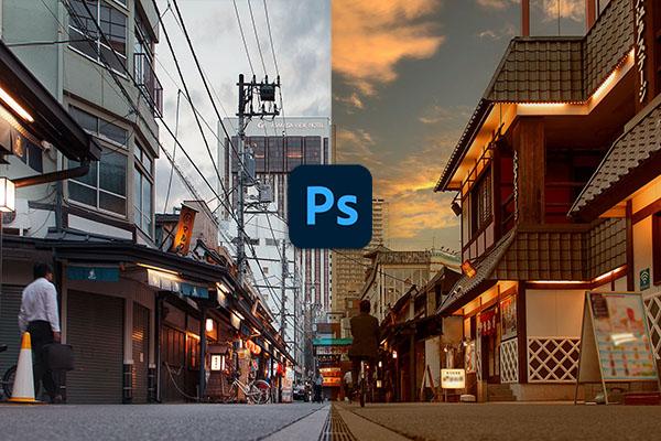 Photoshopの新機能「空の置き換え」が凄すぎて写真の朝夕を自由自在に操れます